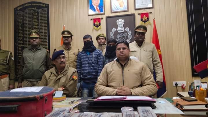 बस्ती: थाना कप्तानगंज पुलिस द्वारा चोरी के सामान के साथ दो अभियुक्त हुए गिरफ्तार