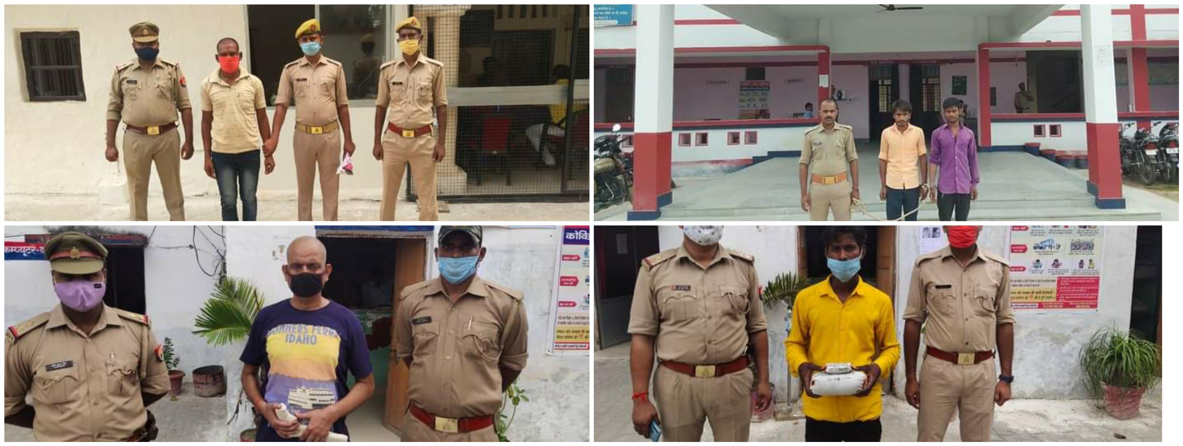 UP:बस्ती जिले में चार टॉप 10 अपराधी गिरफ्तार